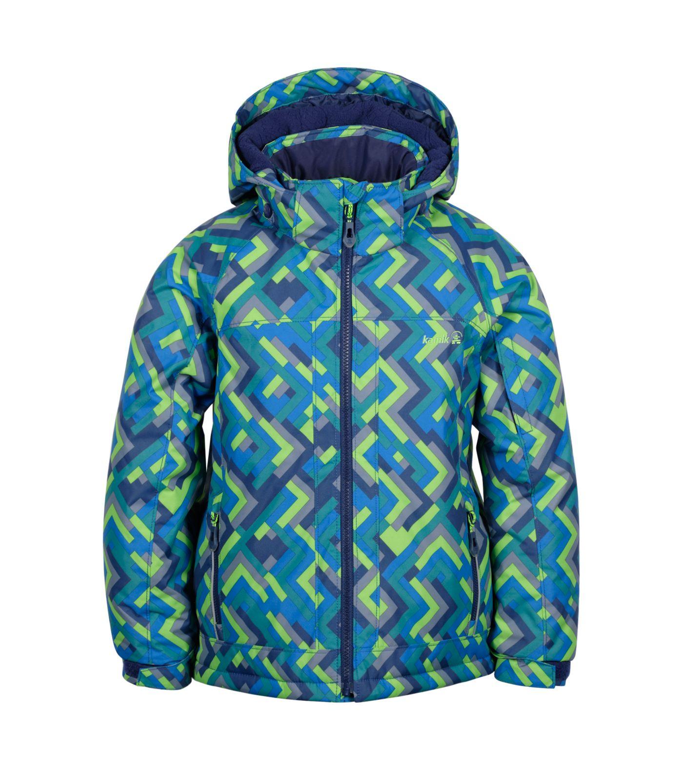 Kamik Boys' Rusty Grid Winter Jacket