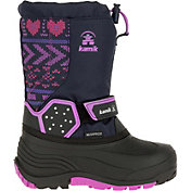 Kamik Kids' Icetrack Print Insulated Waterproof Winter Boots