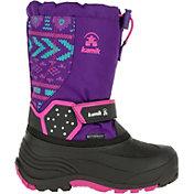 Kamik Kids' Icetrack Print Insulated Waterproof Winter Boots