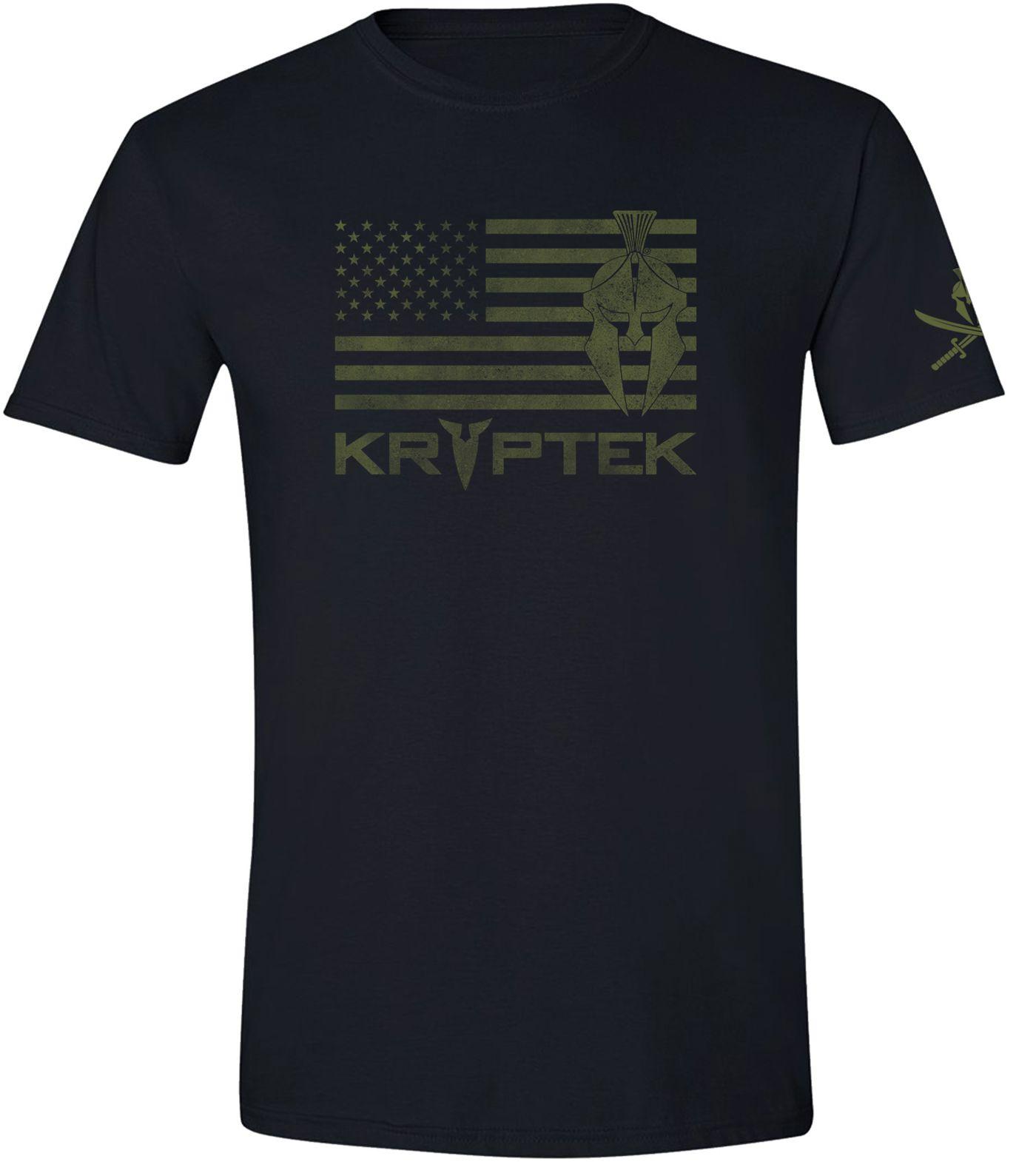Kryptek Men's Spartan Flag T-Shirt