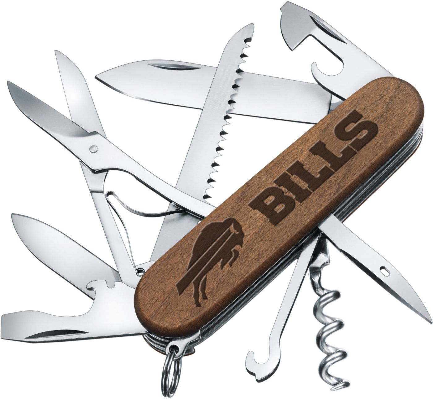 Sports Vault Buffalo Bills Classic Wood Pocket Multi-Tool