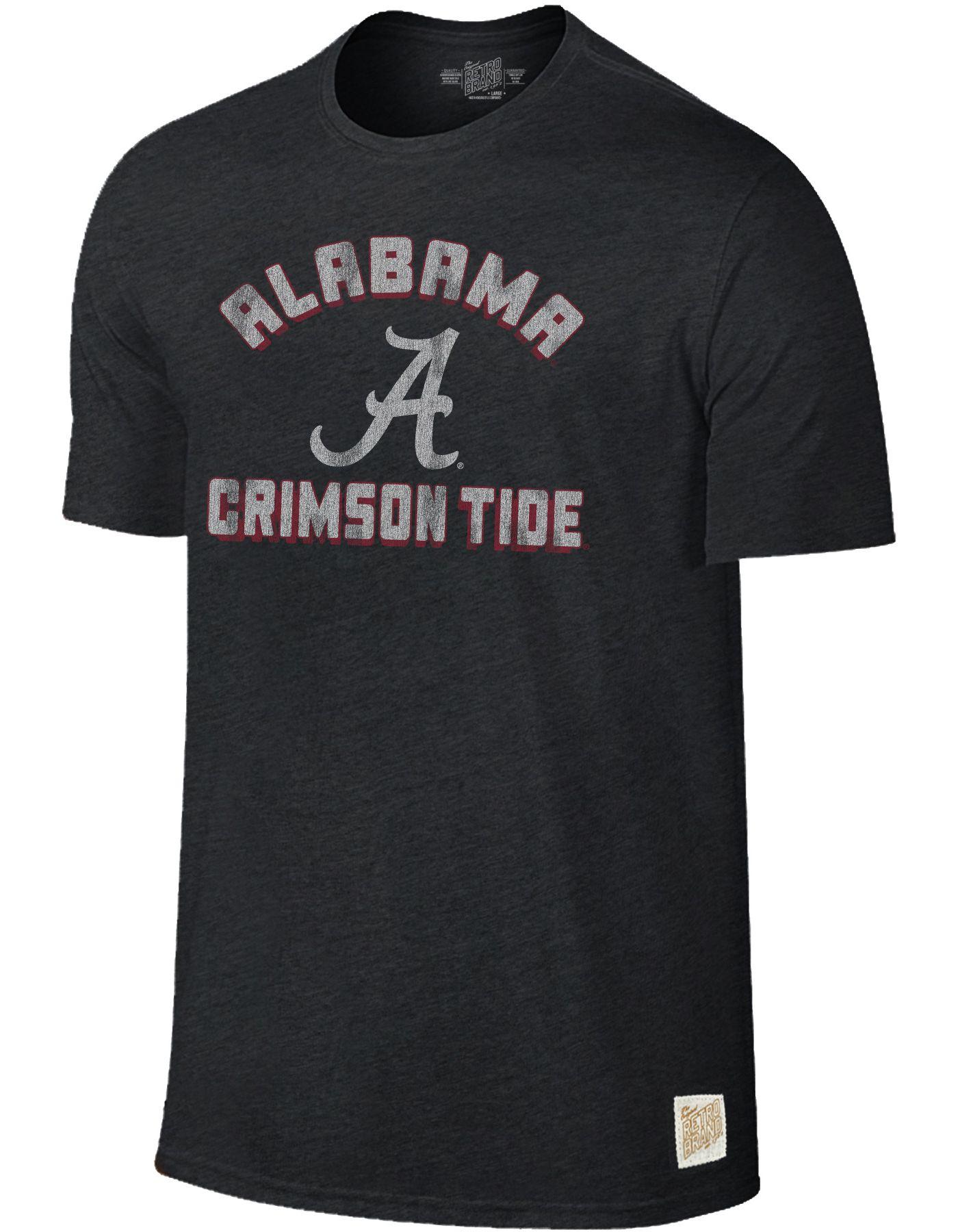 Original Retro Brand Men's Alabama Crimson Tide Tri-Blend Black T-Shirt