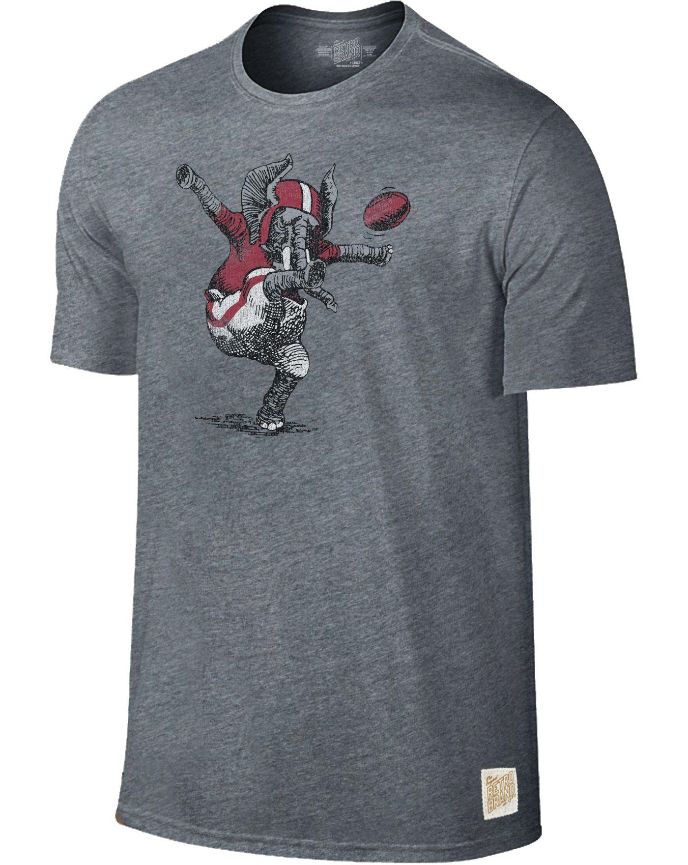 Original Retro Brand Men's Alabama Crimson Tide Grey Retro Tri-Blend T-Shirt