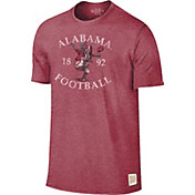 Original Retro Brand Men's Alabama Crimson Tide Crimson Mock Twist T-Shirt
