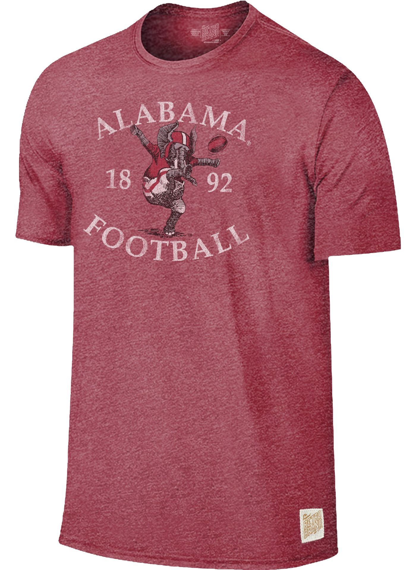 Original Retro Brand Men's Alabama Crimson Tide Crimson Mock Twist T-Shirt