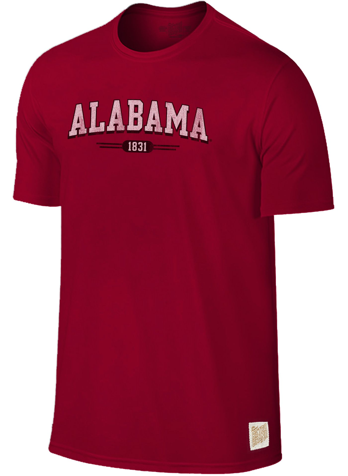 Original Retro Brand Men's Alabama Crimson Tide Crimson Slub T-Shirt