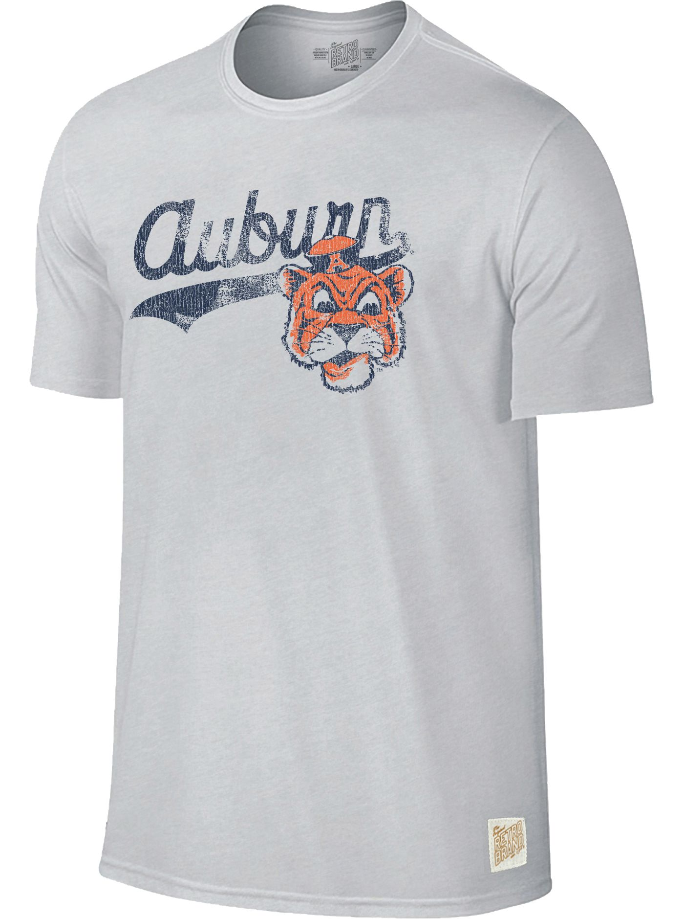Original Retro Brand Men's Auburn Tigers Retro Tri-Blend White T-Shirt