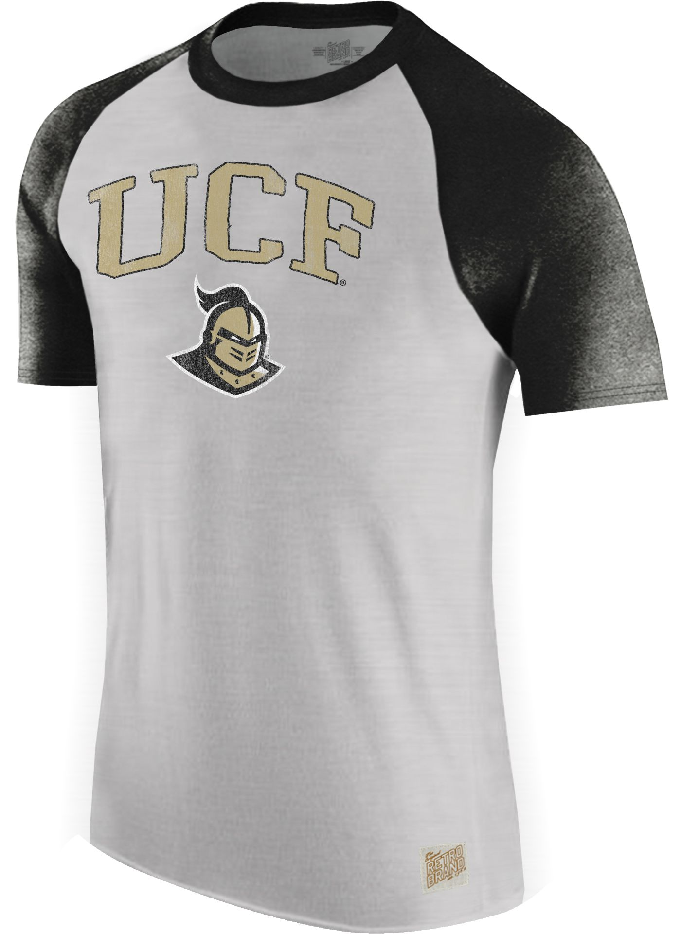 Original Retro Brand Men's UCF Knights Grey/Black Raglan T-Shirt