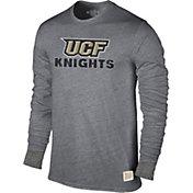 Original Retro Brand Men's UCF Knights Grey Tri-Blend Long Sleeve T-Shirt
