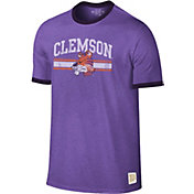 Original Retro Brand Men's Clemson Tigers Regalia Ringer T-Shirt