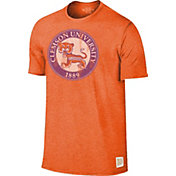 Original Retro Brand Men's Clemson Tigers Orange Mock Twist T-Shirt