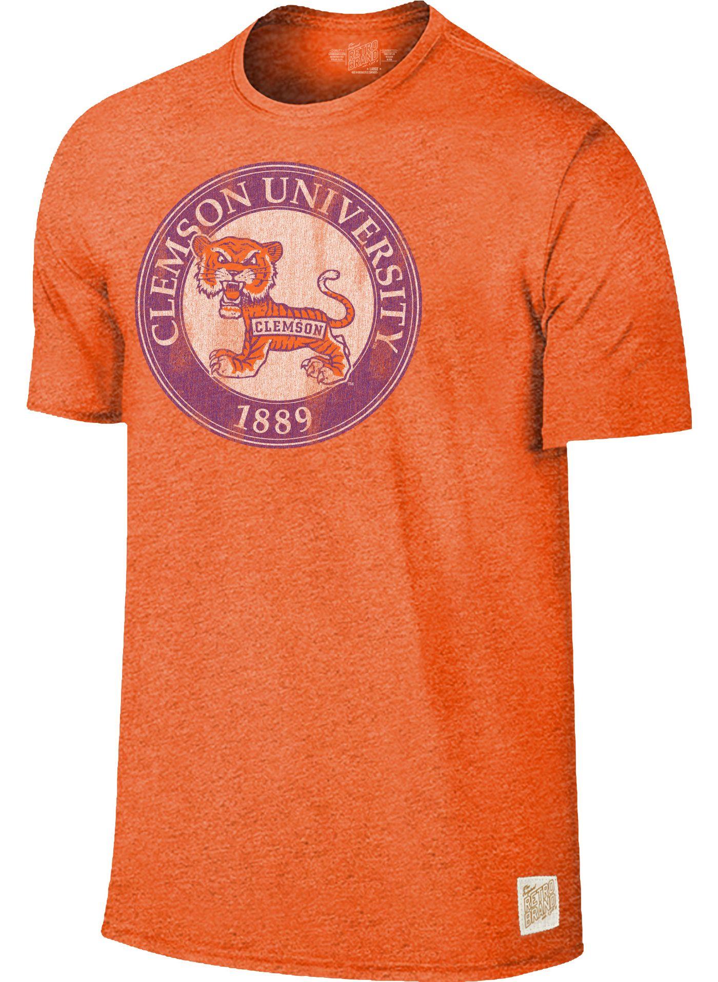 Original Retro Brand Men's Clemson Tigers Orange Mock Twist T-Shirt