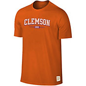 Original Retro Brand Men's Clemson Tigers Orange Slub T-Shirt