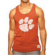 Original Retro Brand Men's Clemson Tigers Orange Retro Mock Twist Tank Top