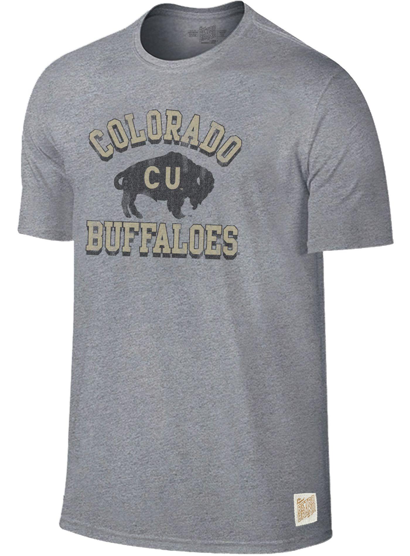 Original Retro Brand Men's Colorado Buffaloes Grey Mock Twist T-Shirt