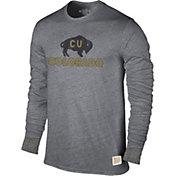Original Retro Brand Men's Colorado Buffaloes Grey Tri-Blend Long Sleeve T-Shirt