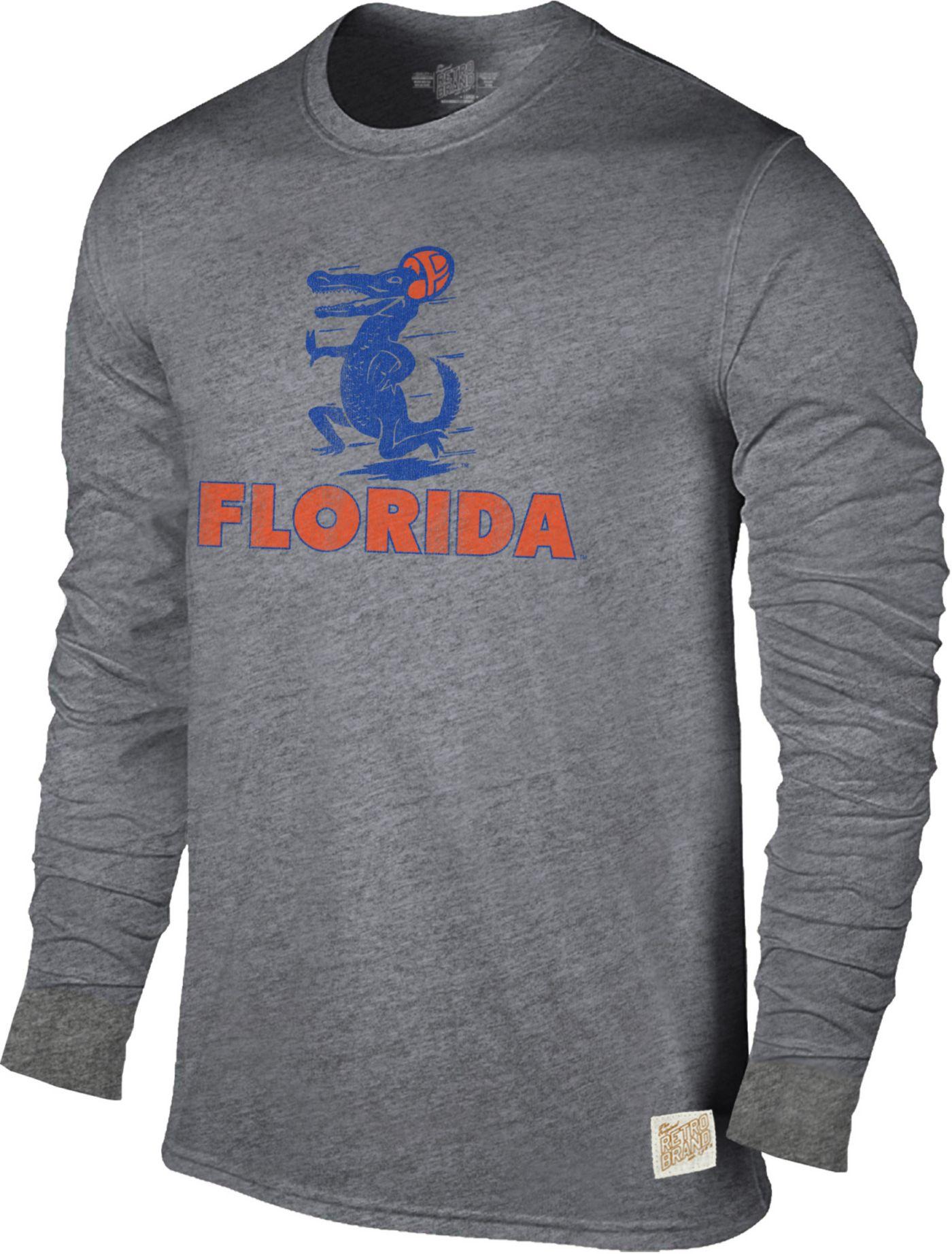 Original Retro Brand Men's Florida Gators Grey Tri-Blend Long Sleeve T-Shirt