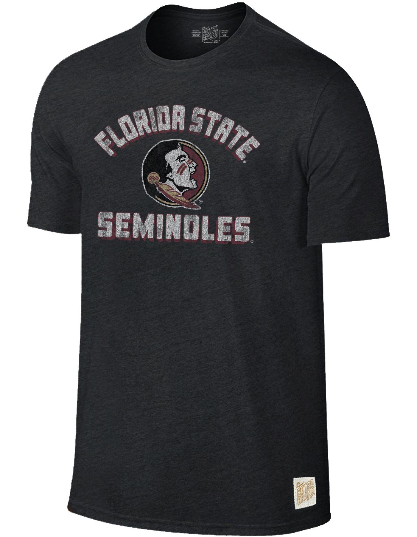 Original Retro Brand Men's Florida State Seminoles Tri-Blend Black T-Shirt