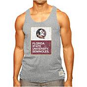 Original Retro Brand Men's Florida State Seminoles Grey Retro Mock Twist Tank Top