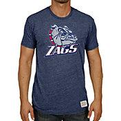 Original Retro Brand Men's Gonzaga Bulldogs Blue Tri-Blend T-Shirt