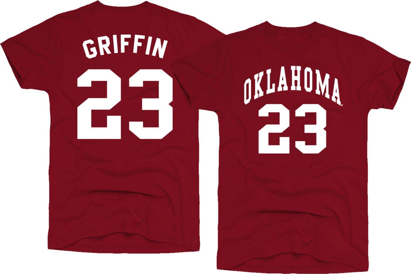 Original Retro Brand Men's Oklahoma Sooners Blake Griffin #23 Crimson Basketball Jersey T-Shirt