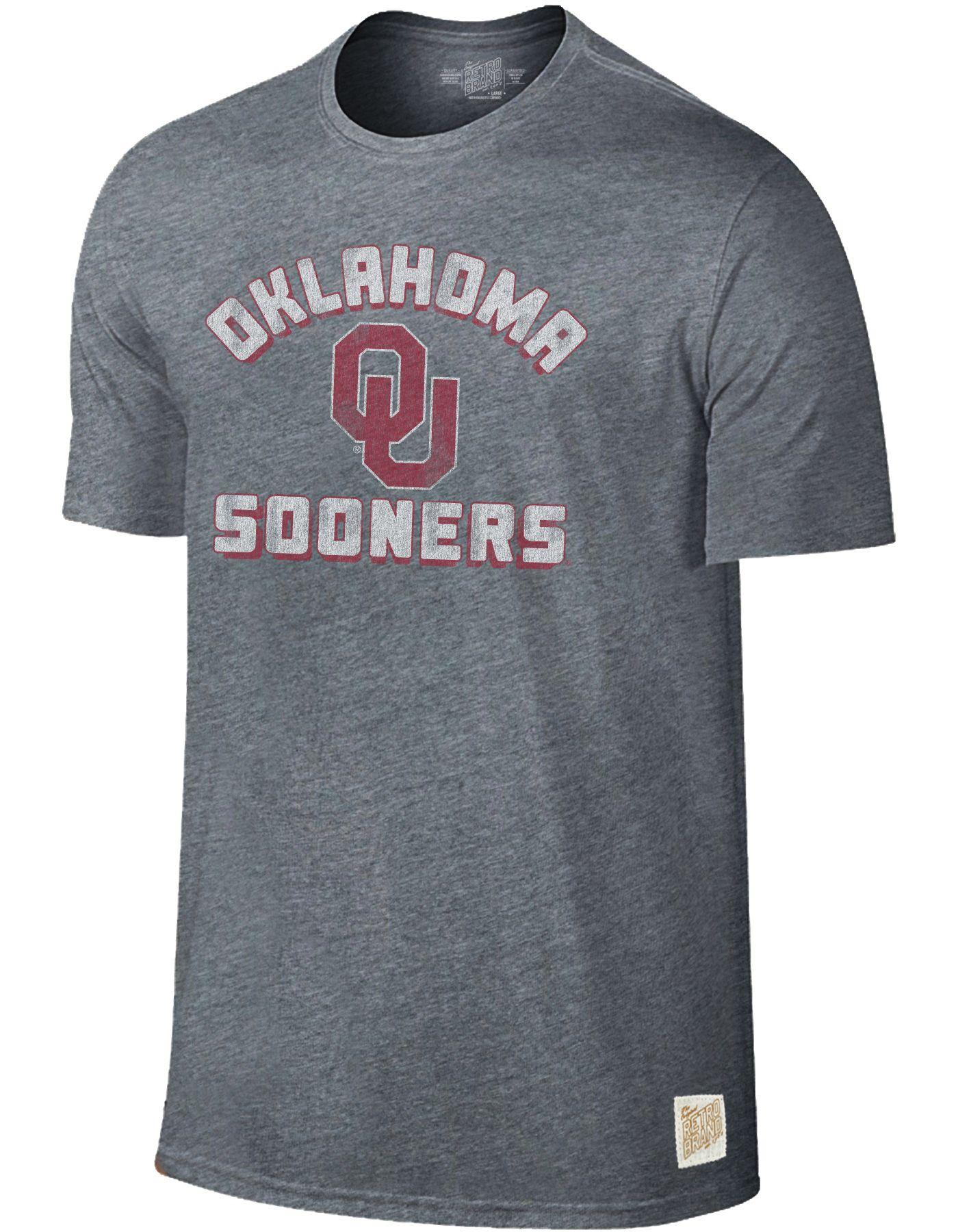 Original Retro Brand Men's Oklahoma Sooners Grey Tri-Blend T-Shirt