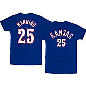 Original Retro Brand Men's Kansas Jayhawks Danny Manning #25 Blue Basketball Jersey T-Shirt