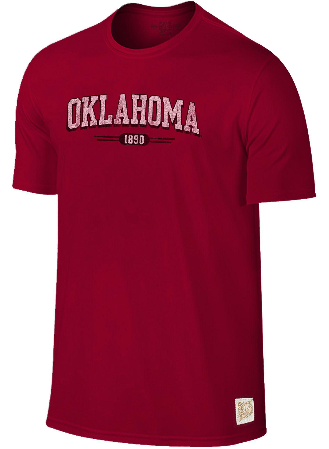 Original Retro Brand Men's Oklahoma Sooners Crimson Slub T-Shirt