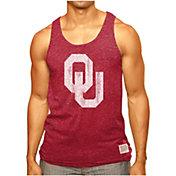 Original Retro Brand Men's Oklahoma Sooners Crimson Retro Mock Twist Tank Top