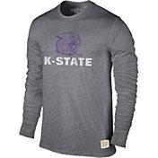 Original Retro Brand Men's Kansas State Wildcats Grey Tri-Blend Long Sleeve T-Shirt