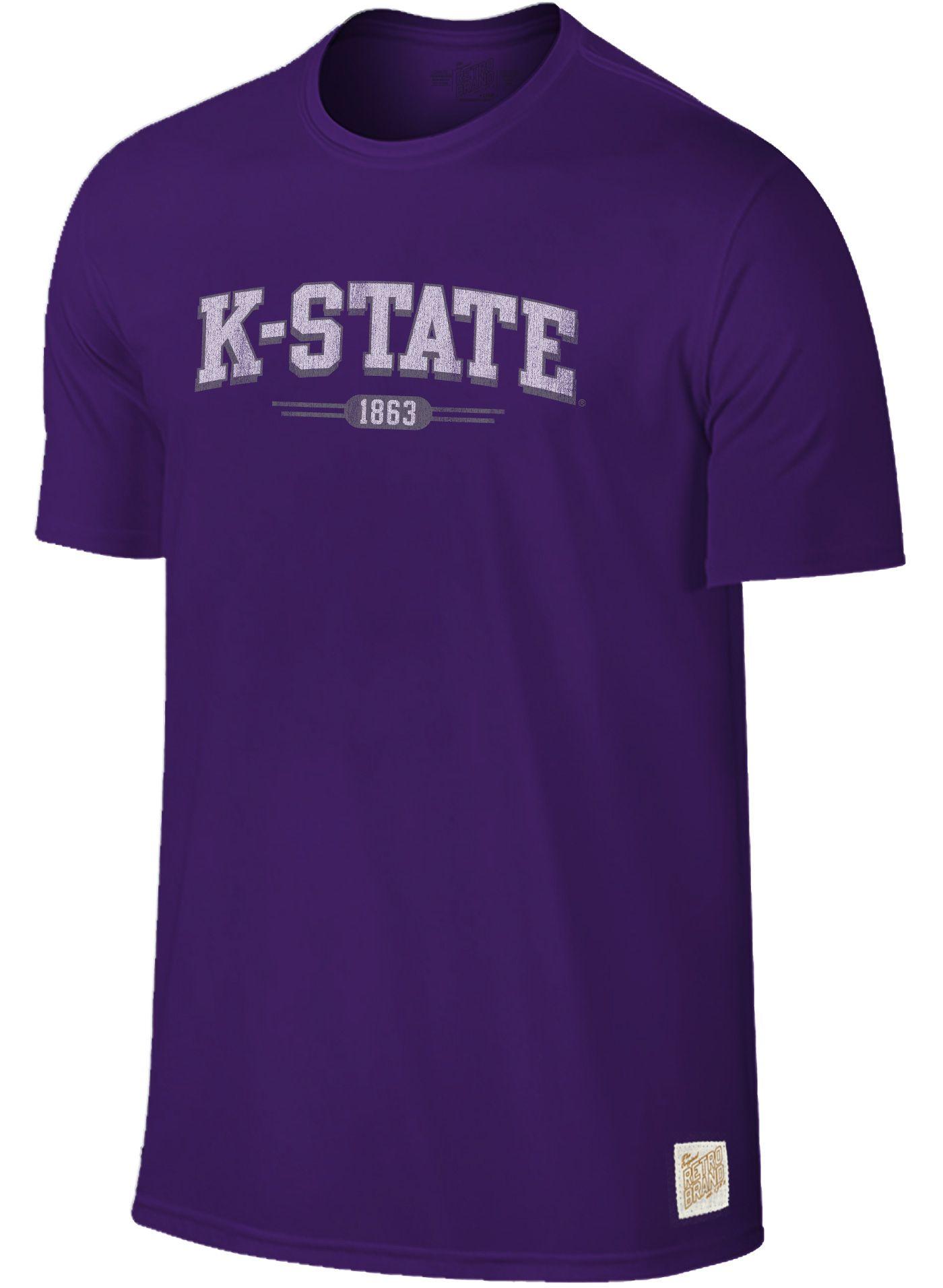 Original Retro Brand Men's Kansas State Wildcats Purple Slub T-Shirt