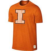 Original Retro Brand Men's Illinois Fighting Illini Orange Dual Blend T-Shirt