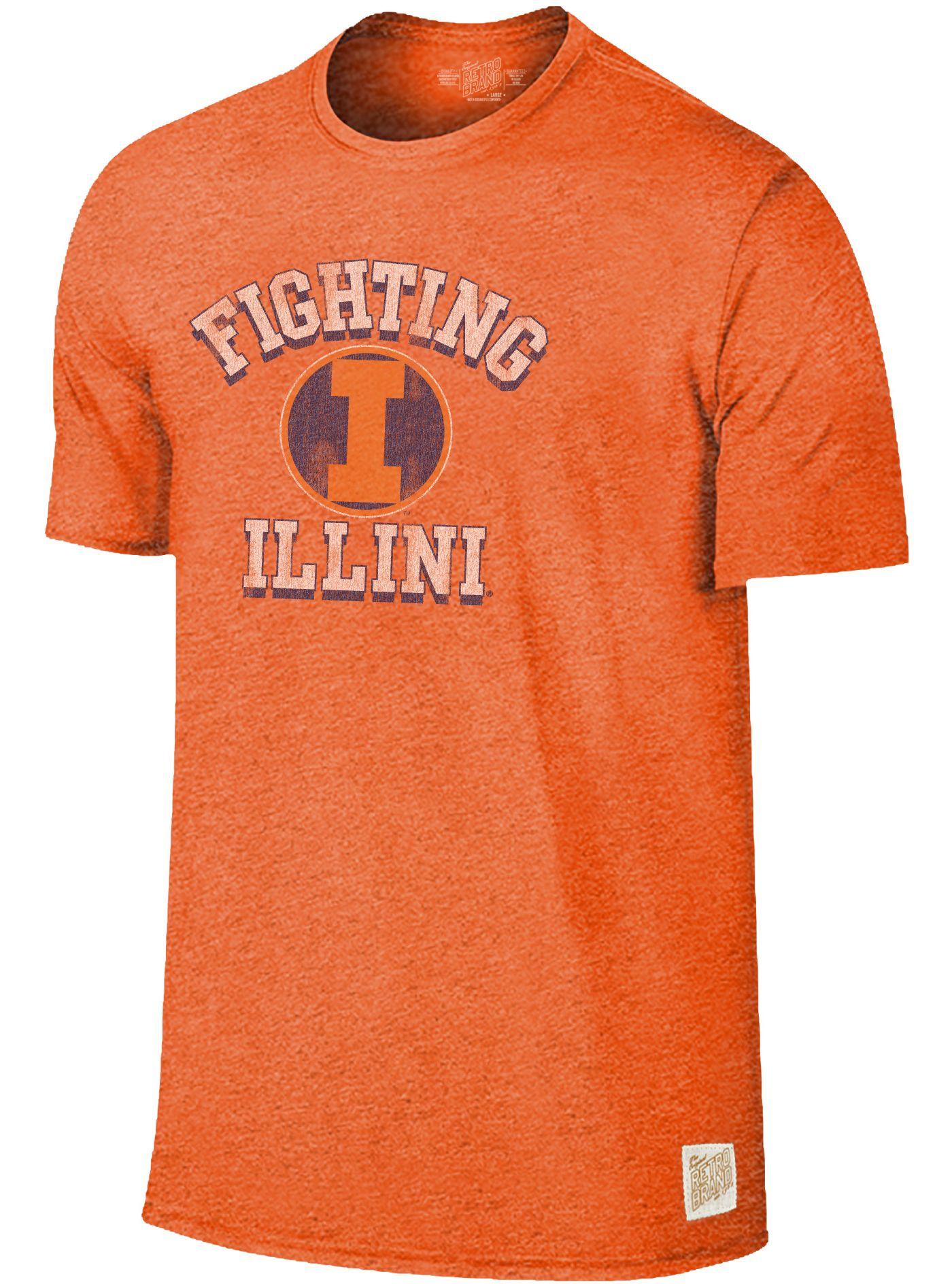 Original Retro Brand Men's Illinois Fighting Illini Orange Mock Twist T-Shirt
