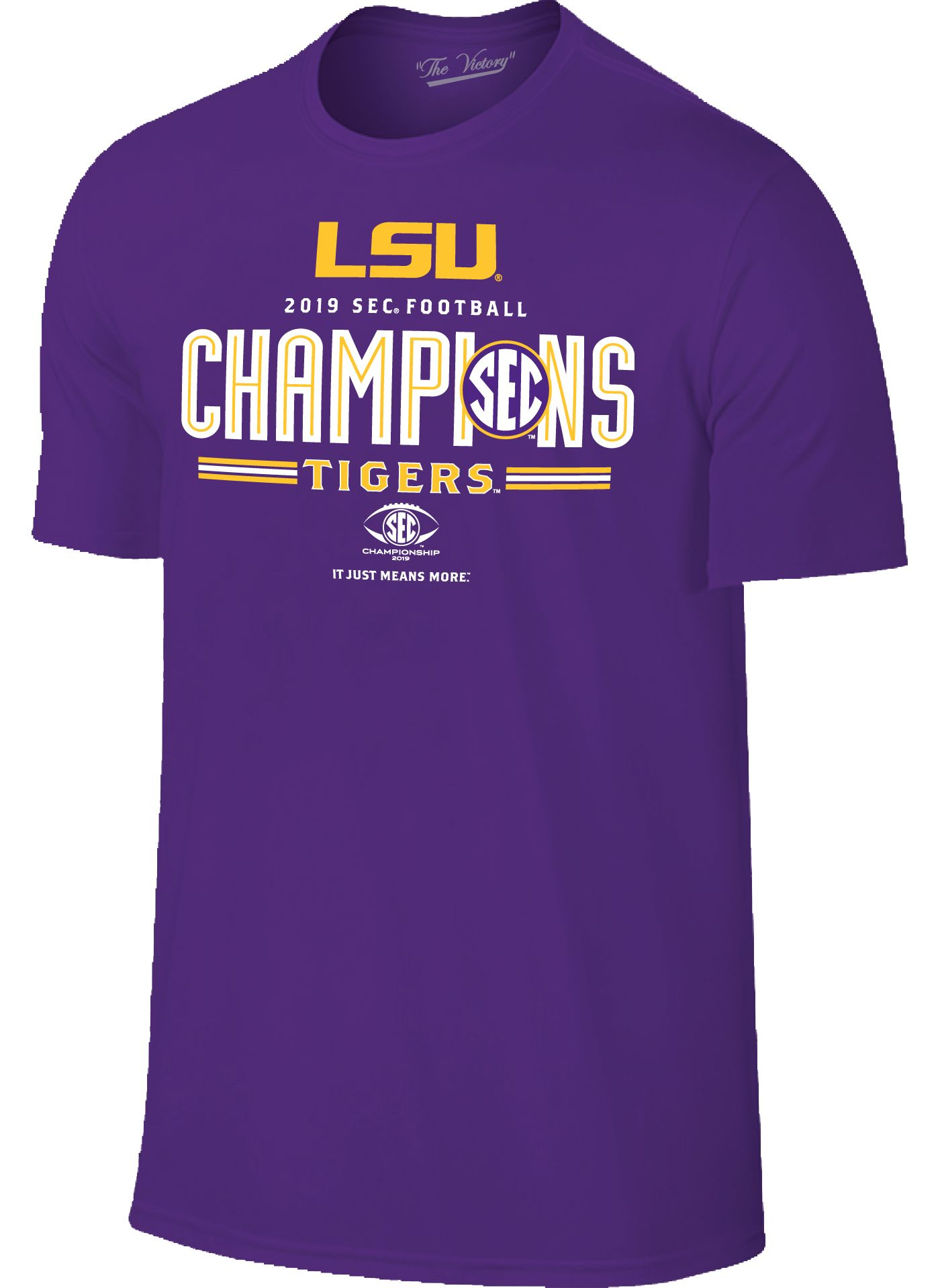 The Victory Men's 2019 SEC Football Champions LSU Tigers Locker Room T-Shirt