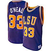 Original Retro Brand Men's Shaquille O'Neal LSU Tigers #33 Purple Retro Basketball Jersey