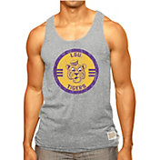 Original Retro Brand Men's LSU Tigers Grey Retro Mock Twist Tank Top