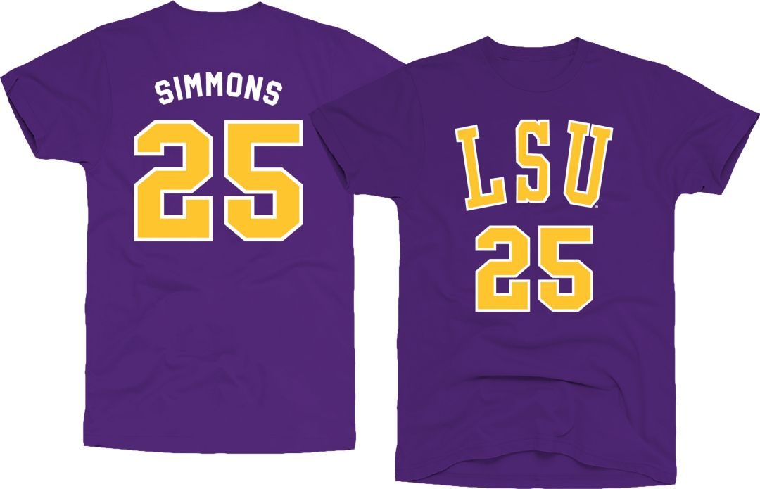 new product 32d50 d534f Original Retro Brand Men's LSU Tigers Ben Simmons #25 Purple Basketball  Jersey T-Shirt