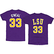 Original Retro Brand Men's LSU Tigers Shaquille O'Neal #33 Purple Basketball Jersey T-Shirt