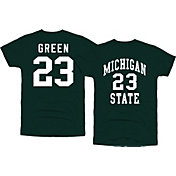 Original Retro Brand Men's Michigan State Spartans Draymond Green #23 Green Basketball Jersey T-Shirt