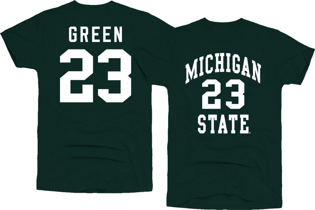 brand new 0f930 2d1f4 Original Retro Brand Men's Michigan State Spartans Draymond Green #23 Green  Basketball Jersey T-Shirt