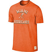 Original Retro Brand Men's Miami Hurricanes Orange Mock Twist T-Shirt