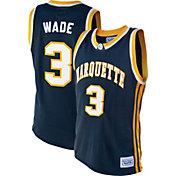 Original Retro Brand Men's Dwyane Wade Marquette Golden Eagles #3 Blue Retro Basketball Jersey