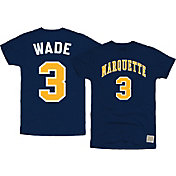 Original Retro Brand Men's Marquette Golden Eagles Dwyane Wade #3 Blue Basketball Jersey T-Shirt