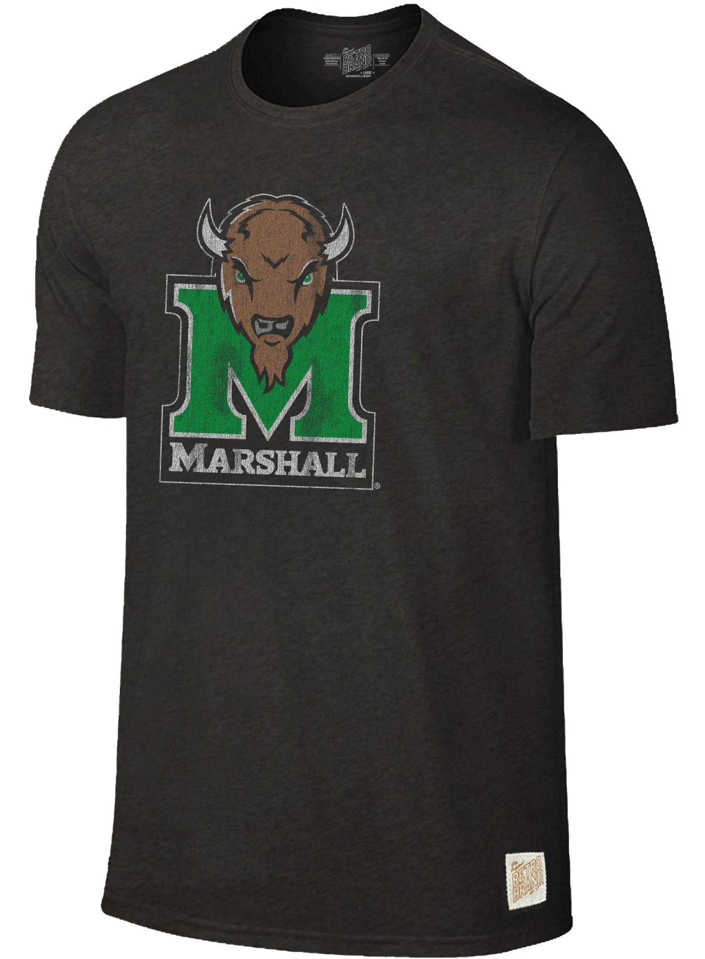 Original Retro Brand Men's Marshall Thundering Herd Dual Blend Black T-Shirt
