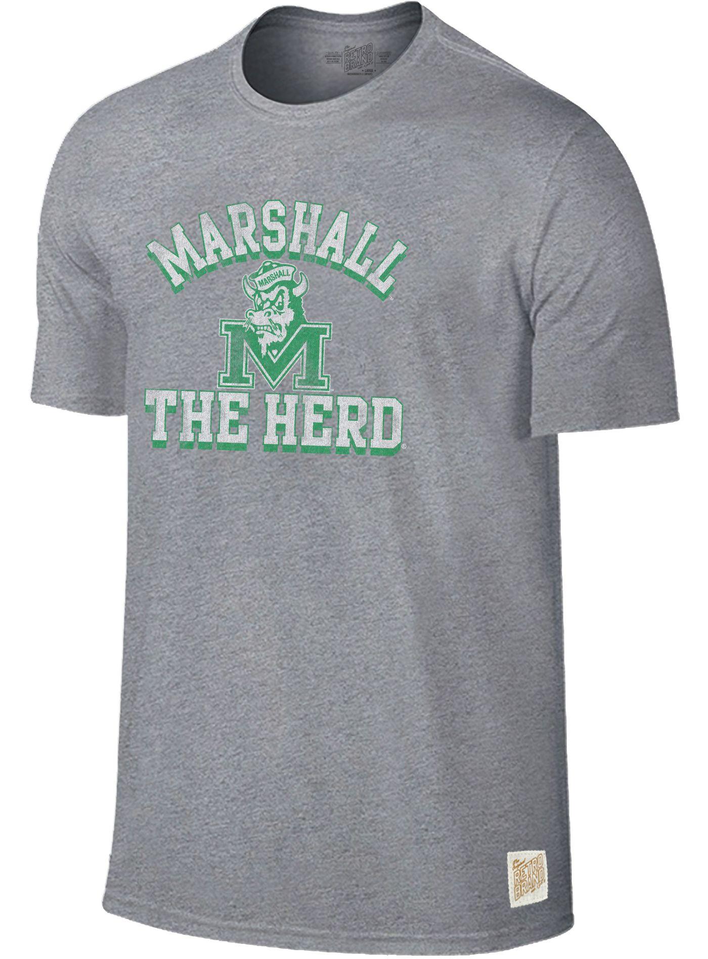Original Retro Brand Men's Marshall Thundering Herd Grey Mock Twist T-Shirt