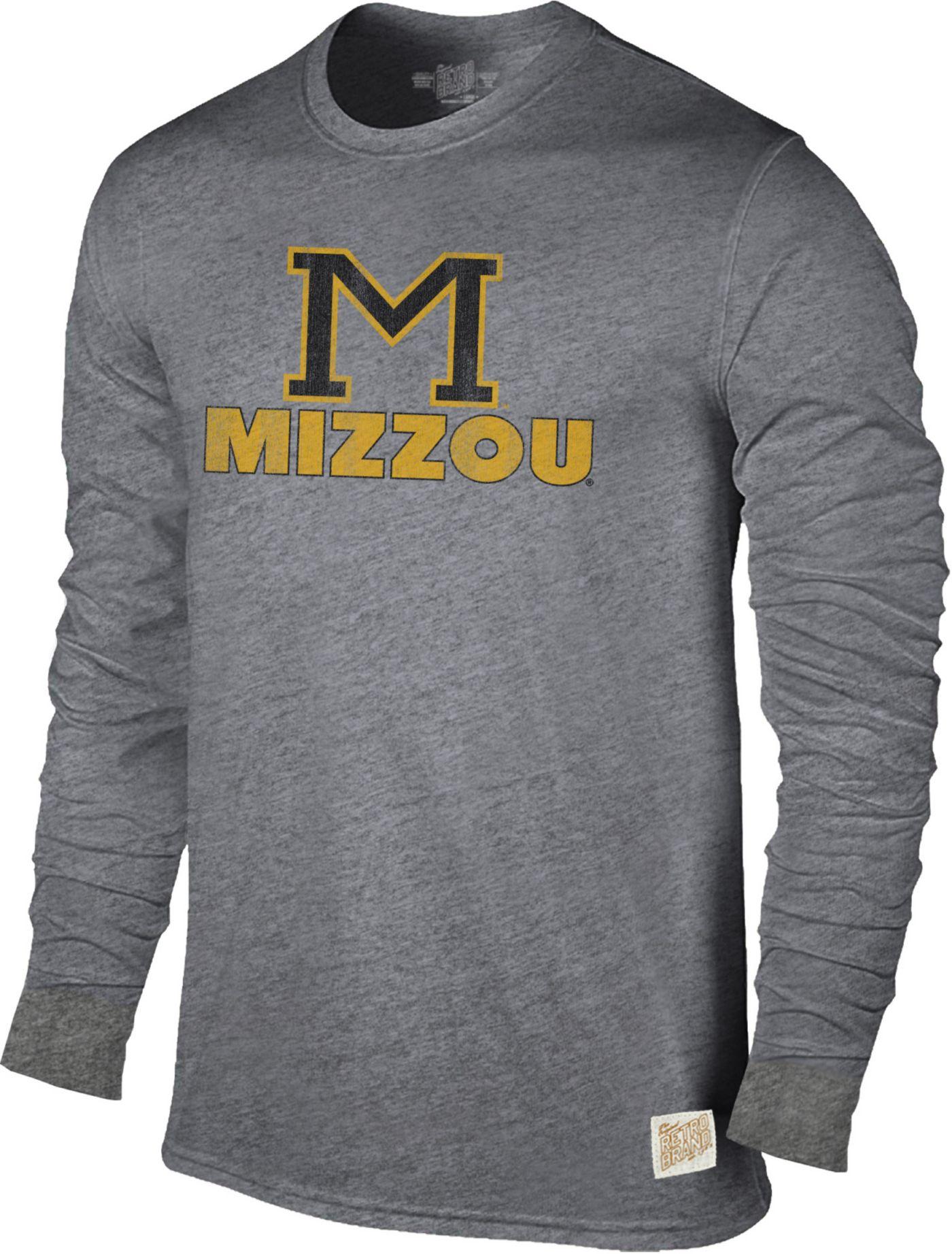 Original Retro Brand Men's Missouri Tigers Grey Tri-Blend Long Sleeve T-Shirt