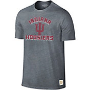 Original Retro Brand Men's Indiana Hoosiers Grey Tri-Blend T-Shirt