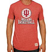 Original Retro Brand Men's Indiana Hoosiers Crimson Tri-Blend Basketball T-Shirt