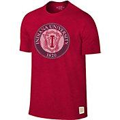 Original Retro Brand Men's Indiana Hoosiers Crimson Mock Twist T-Shirt