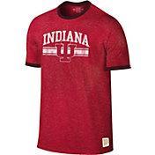 Original Retro Brand Men's Indiana Hoosiers Crimson Ringer T-Shirt